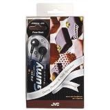 JVC ダイナミックオープン型イヤホン (ピオーネブラック)Gumy スピーカーセット HP-F140SP-B