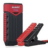 Suaoki T10 - Jump Starter Cargador de Batería Arrancador de Coche (400A, 12V, 12000mAh, Batería Externa, LED, Arranque Kit Para Coche) Negro&Rojo