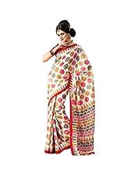 Anvi Creations Off White Bhagalpuri Cotton Silk Saree (Off White_Free Size)