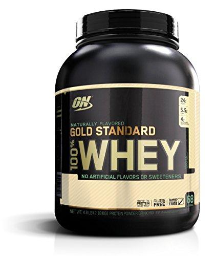 Optimum Nutrition Gold Standard 100% Whey, Naturally Flavored Vanilla, 4.8 Pound