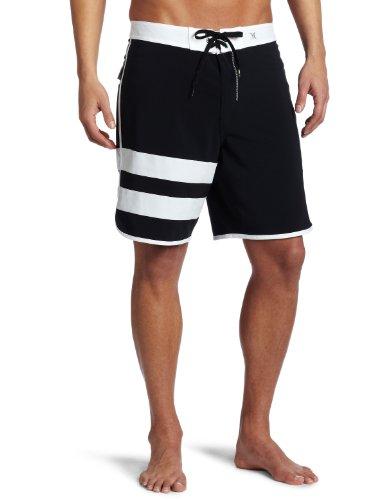 Hurley Boardshorts Phantom Block Party - Bóxer de baño para hombre, color negro, talla 30