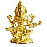 Gurukrupa Golden Touch Saraswati Gold Plated Goddess Idol( 12.06 Cm X6.35 Cm X10.16 Cm, Gold Plated )