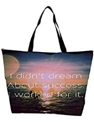Snoogg I Worked For Success Waterproof Bag Made Of High Strength Nylon