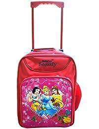 Batu Lee Princess Barbie 15 Inch Red Waterproof Trolley Hybrid Children's Backpack