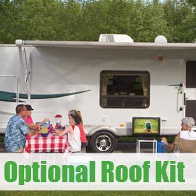 Hybrid portable or roof mount satellite antenna