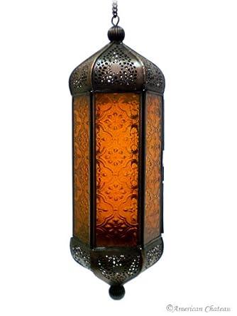 Moroccan hanging candle lantern
