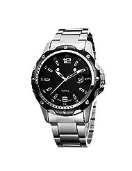 Creative 2015 Retro Strip Simple Men Quartz Watch Waterproof Business Men's Big Dial Calendar Watch