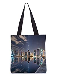 Snoogg Boats In The Lake Digitally Printed Utility Tote Bag Handbag Made Of Poly Canvas