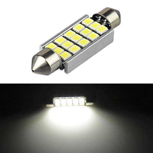 JDM ASTAR Super Bright AX-2835 Chipsets Error Free 569 578 211-2 212-2 LED Bulb For Car Interior Dome Light or Trunk Area Light, Xenon White