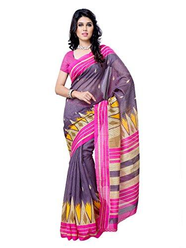 101cart Multi Color Art Silk Party Wear Saree - B00RHS9PMC