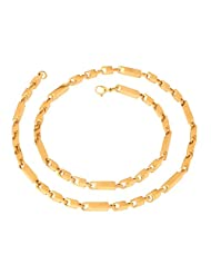 The Jewelbox Mens Stainless Steel Gold Plated 3D Large Small Links Chain 22