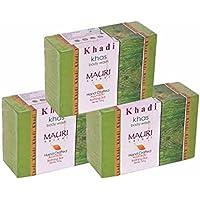 Khadi Mauri Khas Soap Pack Of 3 Herbal Ayurvedic Handcrafted Natural Soaps
