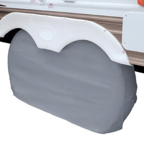 Classic Accessories 80-108-041001-00 OverDrive RV Dual Axle Wheel Cover, Grey, Large