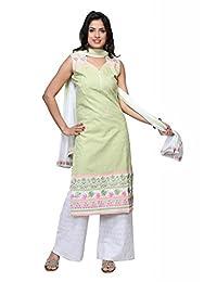 Ekvi Women's Cotton Straight Salwar Kameez (Ekvi_15010378-40 _Aqua _40)