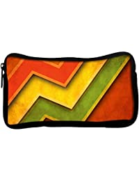 Snoogg Red Yellow Green Poly Canvas Student Pen Pencil Case Coin Purse Utility Pouch Cosmetic Makeup Bag