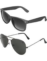 Zyaden COMBO Of Wayfarer Sunglasses & Aviator Sunglasses (Combo-10)