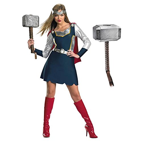 Disguise Women's Marvel Thor Girl Classic Costume, Blue/Silver/Red, Medium