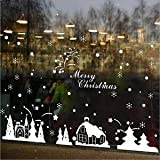 Alcoa Prime 90x60cm Xmas Tree Snowflake Clear Wall Clings Decal Windows Stickers Decor