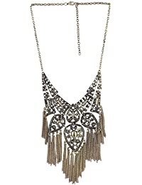 Arittra Alloy Tribal Design Golden Black Choker Necklace In Antique Finish For Girls And Women -Valentine Gift...