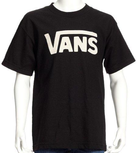 Vans Classic - Camiseta infantil, tamaño XL, color negro / blanco