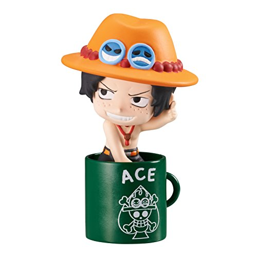 Ochatomo Series ONE PIECE Pirate Vacation Kaisoku Tachi no Bakansu on Cup Collectable Trading Model Figure Kit 8 Pack BOX Monkey D Luffy Trafalgar Law Sanji Roronoa Zoro Portgas D Ace Sabo MegaHouse