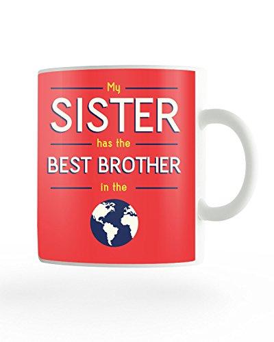 PosterGuy Rakhi/Raksha Bandhan Gift Red For Brother Or Sister Ceramic Coffee Mug (Best Brother)