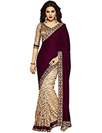 Sarees (Women's Clothing Saree For Women Latest Design Wear Sarees New Collection In MULTY Coloured VELVET Material...