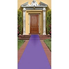 Beistle Purple Carpet Runner, 24-Inch by 15-Feet
