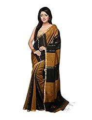 Bengal Handloom Silk Block Print Saree - B00WFUX6HC