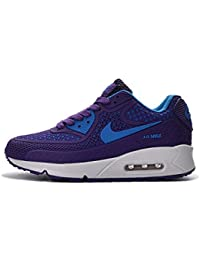 NEW Nike Air Max 90 Women S Running Shoe Purple Blue White - Plastic Shell