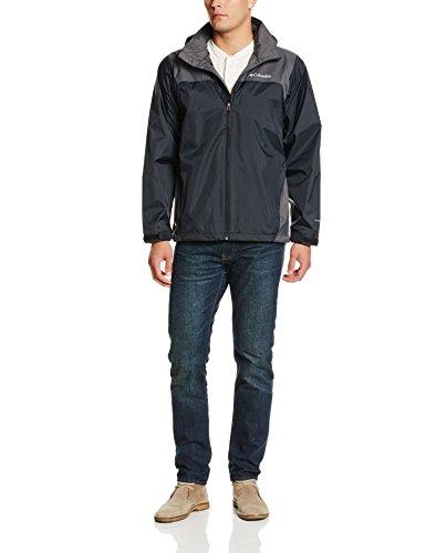 Columbia Men's Glennaker Lake Packable Rain Jacket, Black/Grill, Large