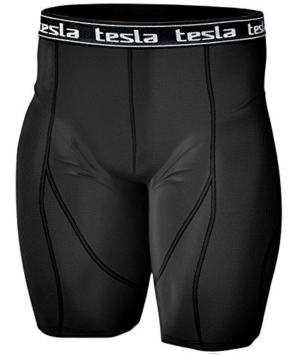 (テスラ)TESLA高機能 コンプレッション [UVカット・吸汗速乾] 夏クールギア ドライ トレ-ニング アンダーウェア ゴルフウェア ショートタイツ (BB, L)