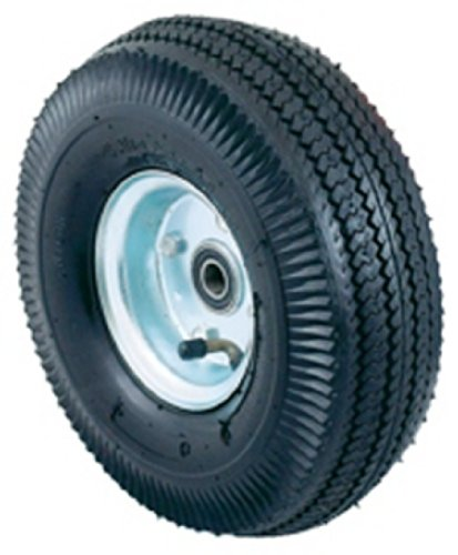 Harper Trucks Pneumatic Hand Truck Wheel with Ball Bearings and Steel Hub, 10″ Diameter x 3-1/2″ Wide