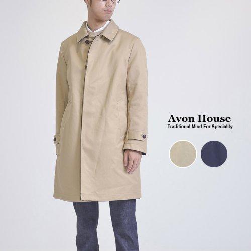 【AVON HOUSE】エーボンハウス CASHMERE REVERSIBLE SOUTIEN COLLAR COAT カシミア リバーシブル ステンカラー コート (46, B:NAVY/BEIGE(カシミア部分)) -