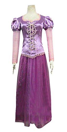 Halloween 2017 Disney Costumes Plus Size & Standard Women's Costume Characters - Women's Costume Characters Women's Halloween Deluxe Rapunzel Costume Outfit Princess Fancy Dress (Sizes S-2X)