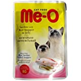Me-O Wet Cat Food Sardine With Red Snapper 80 G(Pack Of 12)