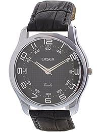Laser Quartz Analog Black Dial Men's Watch - UV_2110_BLACK