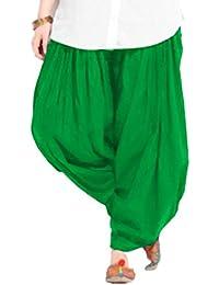 Women's GREEN Cotton Patiala Salwar