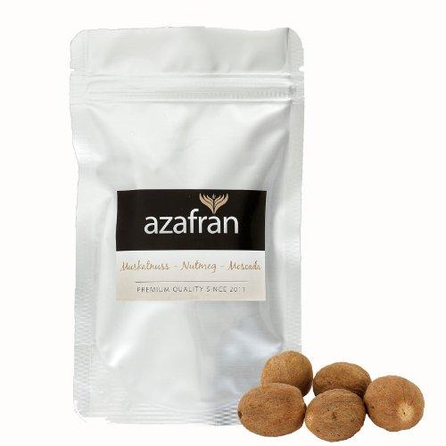 Muskatnüsse ganz (10 Stk) - 80/85 - Premium Qualität von Azafran®