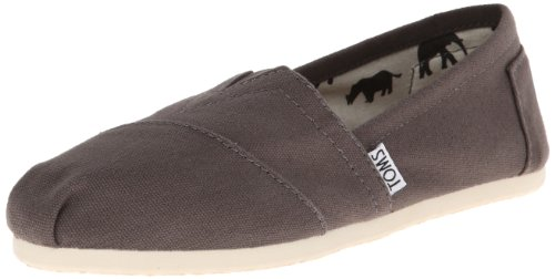 TOMS Women's Classic Canvas Slip-On,Ash,8 M US