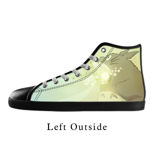 OK-Shoes Women's Anime My Neighbor Totoro High Top Canvas Shoes Black US9