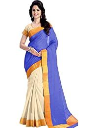 New Collection Fancy And Regular Casual Wear Women Cotton Polyester Silk Multi-Color Half & Half Saree In Low...