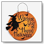 WITCHING YOU A HAPPY HALLOWEEN SIGN