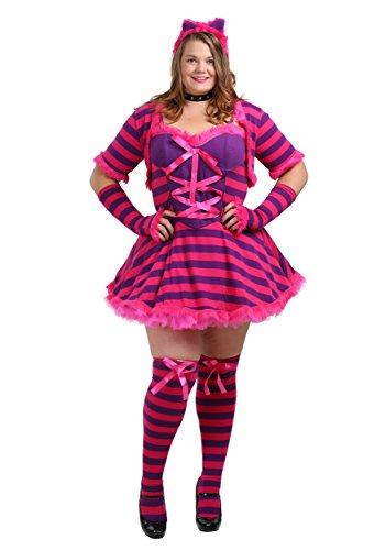 Halloween 2017 Disney Costumes Plus Size & Standard Women's Costume Characters - Women's Costume CharactersPlus Size Sexy Wonderland Cheshire Cat Costume 1X
