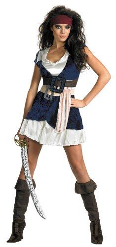 Disguise Unisex Adult Sassy Jack Sparrow, Blue/White,