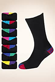 7 Pairs of Freshfeet Cotton Rich Stripe Socks with Silver Technology