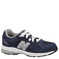 New Balance KJ990 Lace Grade Running Shoe (Big Kid),Navy,4.5 W US Big Kid