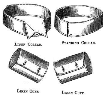 Men's Vintage Reproduction Sewing Patterns 1887 Mens Collars & Cuffs Pattern $2.00 AT vintagedancer.com