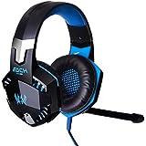 EACH G2000 Professional 3.5mm PC LED Light Gaming Bass Stereo Noise Isolation Over-ear Headset Headphone Earphones...
