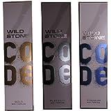 Wild Stone Code Gold, Platinum, Titanium Body Perfume 120ML (Pack Of 3)
